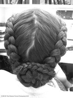 couture-inspired hair.