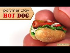 Polymer Clay - Hot Dog - YouTube