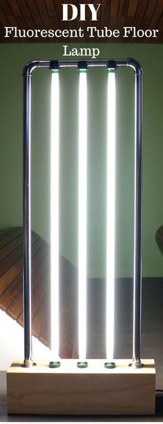 Fluorescent Tube Floor Lamp http://vid.staged.com/MLht
