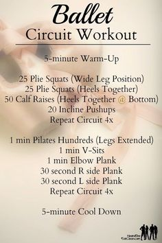 No equipment needed! Unleash your inner dancer with this Ballet Inspired Workout Circuit from He and She Eat Clean!