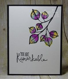 I'm gonna miss you when you're gone - www.dreamingaboutrubberstamps.com - This easy, peasy card features the 2014-2016 In Colors from Stampin' Up! that will be retiring soon. I also used the Remarkable You stamp set for this card