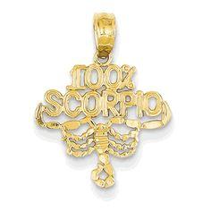 14K 100% Scorpio Pendant