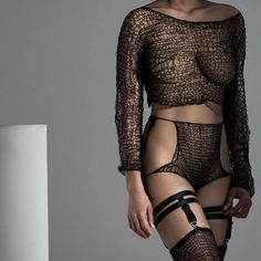 "maudenibelungen: ""The bestselling piece from the Grey Area collection: the Louise Cover-up. It was names as a clin d'œil to Louise Bourgeois. This piece as well as the Audrey stockings also shown here are part of our cyber Monday deals. The shop is..."