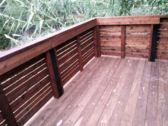 Pre-sealed cedar deck and horizontal fence. Installed by Titan Fence & Supply Company. Cedar Deck, Building A Fence, Custom Decks, Horizontal Fence, Outdoor Decor, Home, Design, House, Homes