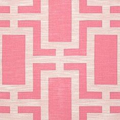 Clarence House OD TREILLAGE PINK Fabric
