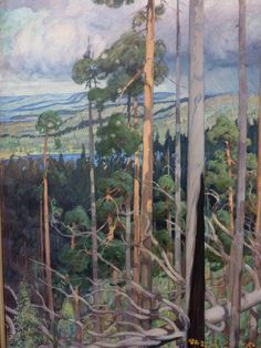 The Athenaeum - The Island of the Blessed (Akseli Gallen-Kallela - ) Paintings I Love, Seascape Paintings, Landscape Art, Landscape Paintings, Landscapes, Scandinavian Paintings, Painters Studio, Tree Images, Watercolor Trees