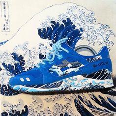 "Asics Gel-lite III custom ""The Great Wave"" Asics Gel Lyte Iii, Fashion Killa, Nike Huarache, Shoe Game, Trainers, Kicks, Barbie, Sneakers Nike, Footwear"