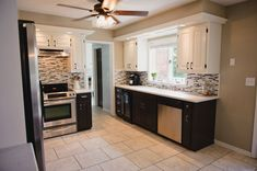 Kitchen Before and After! love the redo on this kitchen