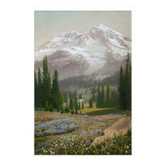 An Alpine Meadow Flowers | Cascade Range Acrylic Print - flowers floral flower design unique style