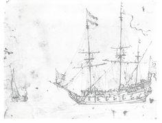 Рисунок корабля. Голландия 17 век.