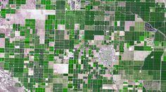 Vista aérea do sul da Califórnia, nos Estados Unidos