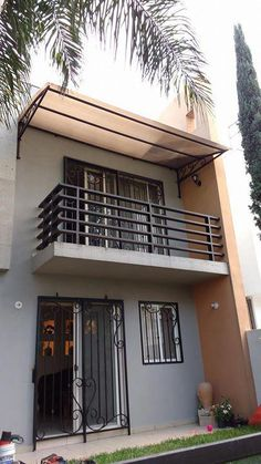 Interior Paint Deals in 2020 Balcony Grill Design, Balcony Railing Design, Window Grill Design, House Front Design, Small House Design, Door Design, Narrow House Designs, Modern Balcony, Consideration
