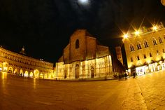 Bologna, Piazza Maggiore by behindthiswall, via Flickr