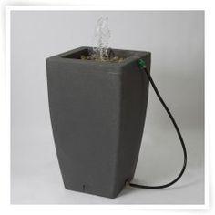 Algreen Madison 49 Gallon Rain Barrel Fountain