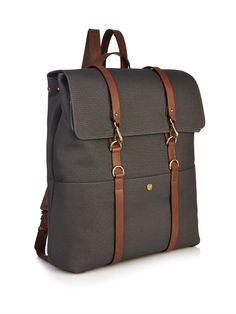 #Mismo Leather-strap backpack