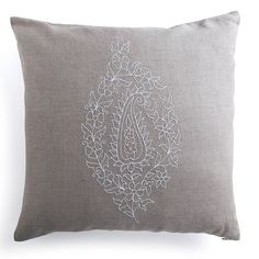 embroidered paisley linen cushion by home address | notonthehighstreet.com
