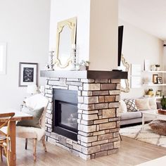 One of my Favorite features in our house is the double sided fireplace!! And bonus it gives me two mantels for endless decorating ….. But then my husband covered one up with a huge TV, so the other...