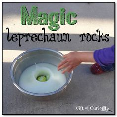 Magic leprechaun rocks - a magical #StPatricksDay activity with a bit of help from science that kids will go absolutely wild for!! || #GiftOfCuriosity #kbn