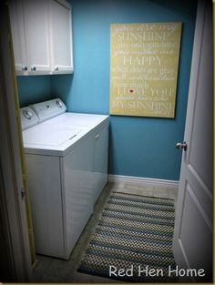 laundry room cheerful colors