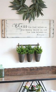 "Bless the food before us, 36""x12"", rustic dining room sign, prayer sign, large kitchen sign, farmhouse prayer sign, Easter Decor, Farmhouse decor, rustic sign, rustic decor, dining room sign, gift idea, home decor #ad #almpam #farmhouse #rustic"
