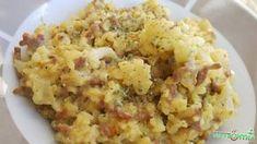 Karfiolos, darált húsos bulgur
