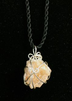 Himalayan Crystal Energy Pendant - love the attachment wirework