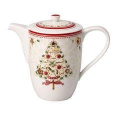 Villeroy & Boch Christmas set from Winter Bakery og Toys Delight series| FINN.no Christmas Tabletop, Christmas Dishes, Christmas Coffee, Fine Porcelain, Porcelain Ceramics, Christmas Dinnerware, Cafetiere, Teapots And Cups, Villeroy