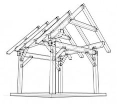 Timber Frame Shed Joinery