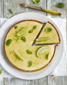 tarte au citron et au basilic