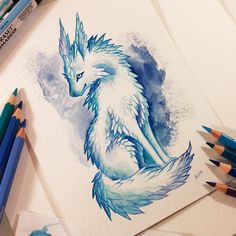Crystal fox by / this looks like he crystal dogs from Star Wars the last jedi