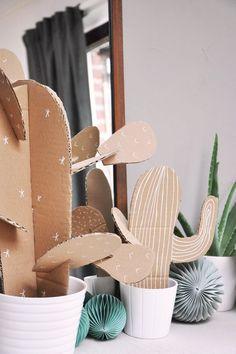 On voit beaucoup de cactus en ce moment. Voilà un petit DIY qui explique comment en réaliser tout simplement pour une déco festive, éphémère, tendance...