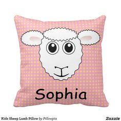 Kids Sheep Lamb Pillow