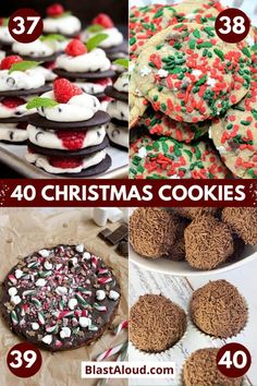 Make your house smell divine with these festive and tasty Christmas cookies recipes. Enjoy them yourself or use them for a cute Christmas edible gift. Best Christmas Recipes, Holiday Cookie Recipes, Holiday Baking, Christmas Baking, Xmas Recipes, Holiday Candy, Christmas Candy, Holiday Treats, Christmas Holidays