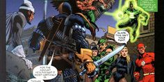 Deathstroke faces off against the entire JLA in Infinity Crisis #3. Dr. Light, on the run for murder, hires Deathstroke as his bodyguard when the JLA shows up to take him into custody. Despite being grossly outnumbered and up against some seriously powerful heroes, Deathstroke takes each member of the JLA out with alarming efficient and speed, showcasing knowledge of his enemies' weaknesses and how to exploit them.  The JLA eventually manage to take Deathstroke down, but only due to the fact…