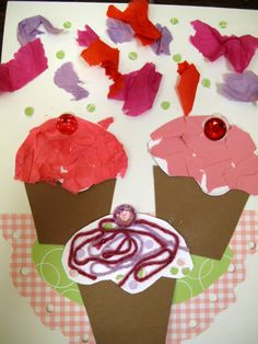 easy cupcake craft. If you give a cat a cupcake.