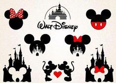 Disney Castle SVG/Disney Silhoutte/ Minnie svg /Mickey svg /Disney castle png /Mickey and Minnie heads svg png / disney Printable/disney svg - New Ideas Disney Diy, Art Disney, Disney Crafts, Disney Love, Disney Trips, Disney Mickey, Mickey And Minnie Tattoos, Mickey Mouse Art, Disney Tattoos