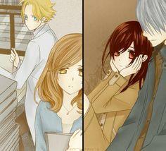 Aido Hanabusa & Wakaba Sayori; Kiryu Zero & Kuran Yuki (Vampire Knight)