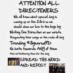 ATTENTION ALL DIRECTIONERS!<<< why can't we not hate on any of them everyday? Why are we even hating! People who send hate don't deserve to be called directioners. One Direction News, One Direction Pictures, Beautiful One Direction, Good People, People Talk, 1d Day, Funny Boy, Irish Boys, Say More