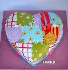 patchwork heart - Cake by majalaska