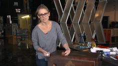 """""""Rehab Addict"""" star Nicole Curtis takes an old cabinet from drab to chic."""