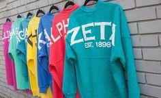 Who doesn't love a comfy custom jersey? E Ca, Delta Phi Epsilon, T Shirt Time, Winter Shirts, Spirit Jersey, Jersey Girl, Sorority, Greek, Cute Outfits