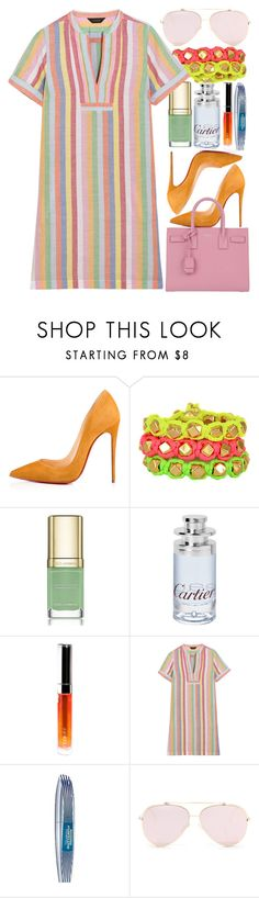 """Aloha"" by egordon2 ❤ liked on Polyvore featuring Christian Louboutin, Ettika, Dolce&Gabbana, Cartier, By Terry, J.Crew, L'Oréal Paris and Yves Saint Laurent"