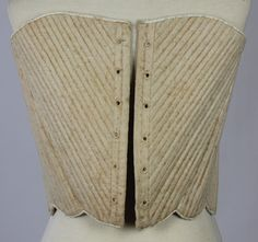 MET Museum Deaccessioned 18th Century Linen Stays, American from 1775-1799