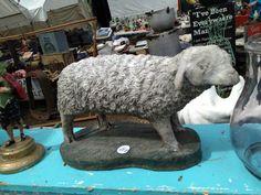 bklyn contessa :: brimfield find :: plaster sheep