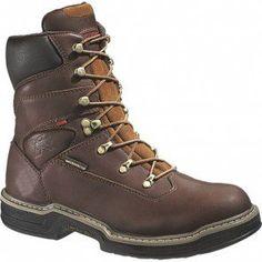 W04825 Wolverine Men's Lightweight Work Boots - Dark Brown www.bootbay.com