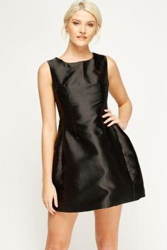 Cheap Dresses for 5 £ Affordable Dresses, Cheap Dresses, Satin Skater Dress, Latest Dress, Dress Outfits, Fashion Online, Shop Now, High Neck Dress, Brand New