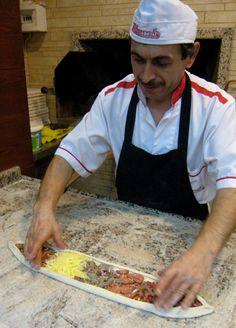 Pizza a la turca en Estambul