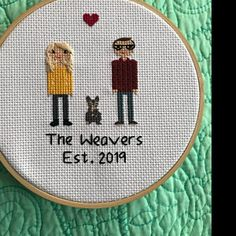 Anniversary Gift Cross Stitch Family Portrait Then and Now Cotton Anniversary Gift Wedding Couple Linen Anniversary Present for Her Gift for Cotton Anniversary Gifts, Anniversary Gifts For Couples, Paper Anniversary, Anniversary Present, Anniversary Ideas, Homemade Wedding Gifts, Homemade Anniversary Gifts, Cross Stitch Family, Presents For Her