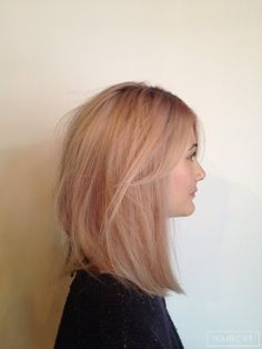 blonde straight lob - Google Search