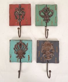 Earth Tones Wall Hook Set by Wilco...or make similar ones  :-)